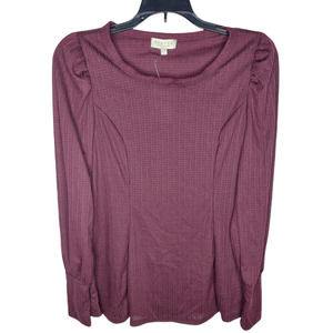 STATUS By Chenault Burgundy Red Long Sleeve Top NWT